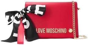 Love Moschino brand logo clutch