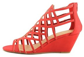 Material Girl Womens Henie Open Toe Casual Wedged Sandals.