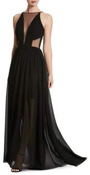 Dress the Population Plunging Sleeveless Chiffon Gown