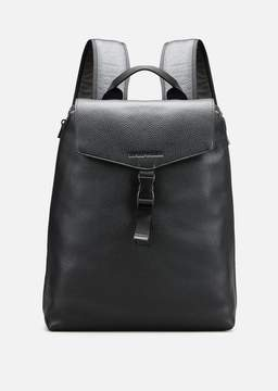 Emporio Armani Grainy Leather And Nylon Backpack