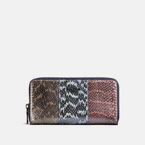 COACH Coach Accordion Zip Wallet In Striped Mixed Snakeskin - DARK GUNMETAL/SNAKE MULTI - STYLE