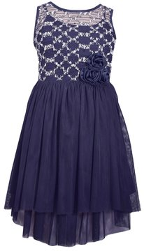 Bonnie Jean Girls 7-16 Sequin & Rosette High-Low Dress