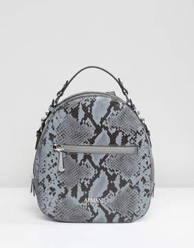 Armani Jeans Faux Snake Minimal Backpack