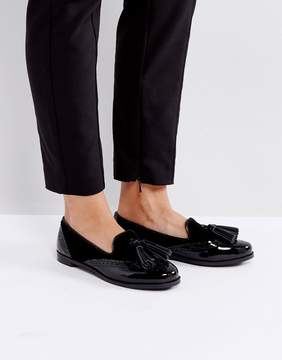 Park Lane Contrast Leather Loafers