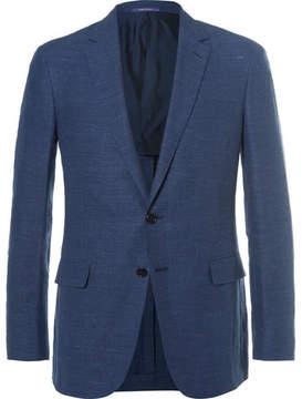 Ralph Lauren Purple Label Blue Nigel Slim-Fit Linen And Wool-Blend Hopsack Blazer