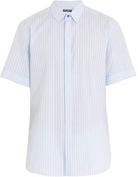 Dolce & Gabbana Striped short-sleeved cotton shirt