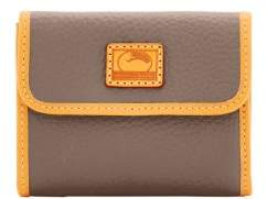 Dooney & Bourke Patterson Leather Small Flap Credit Card Wallet - TAUPE - STYLE