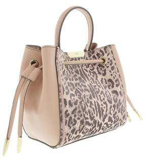 Roberto Cavalli Bucket Bag Summer Leo 004 Nude Shoulder Bag.