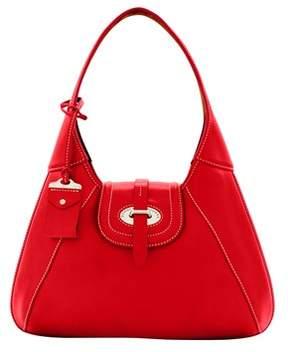 Dooney & Bourke Florentine Toscana Front Stitch Hobo Shoulder Bag. - RED - STYLE