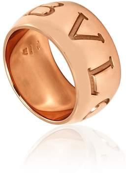 Bvlgari Monologo 18K Pink Gold Diamond Band Ring- Size 50 (US 5 1/2)