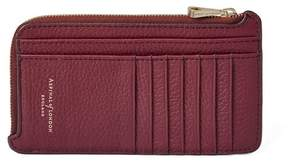 Aspinal of London Large Zipped Coin Purse In Bordeaux Pebble