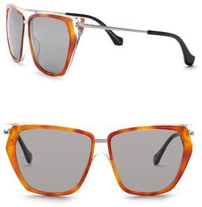 Balenciaga 58mm Square Flat Top Sunglasses