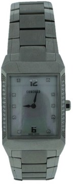 Concord Carlton Stainless Steel Diamond Unisex Watch