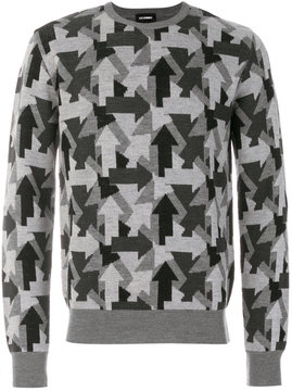 Les Hommes arrow pattern jumper