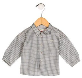 Bonpoint Boys' Plaid Button-Up Shirt w/ Tags