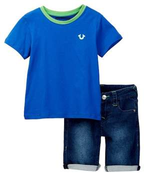 True Religion Buddha Tee Short Set (Toddler Boys)
