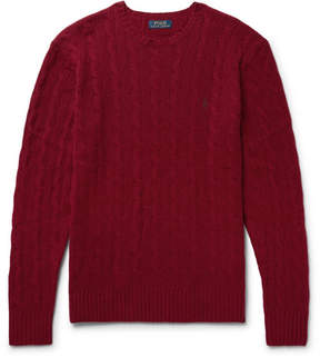 Polo Ralph Lauren Slim-Fit Cable-Knit Wool And Cashmere-Blend Sweater