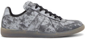 Maison Margiela Grey and Black Reflective Replica Sneakers