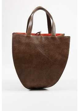 Tumi Pre-owned dune Brown Leather Medium Top Handle fleur Tote Bag.
