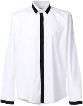 Les Hommes tape placket shirt