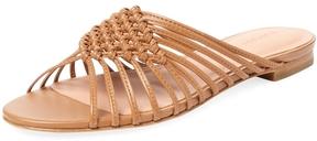 Sigerson Morrison Women's Aggie Woven Leather Slip-On Sandal