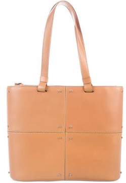 Tod's Leather Stud-Accented Tote