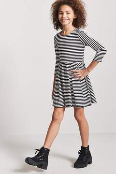 Forever 21 Girls Stripe Fit & Flare Dress (Kids)
