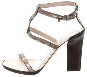 Reed Krakoff Embossed Ankle Strap Sandals