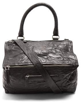 Givenchy Pandora Medium Creased Leather Bag - Womens - Black