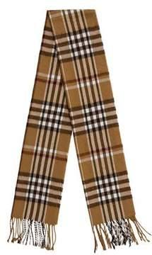 Burberry Check Pattern Merino Wool Scarf