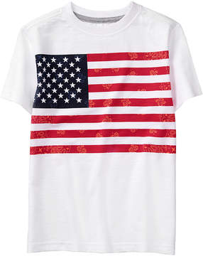 Gymboree White Bandana Flag Tee - Boys
