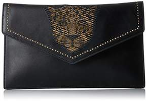 Juicy Couture Leopard Studded Clutch with Gold Chain