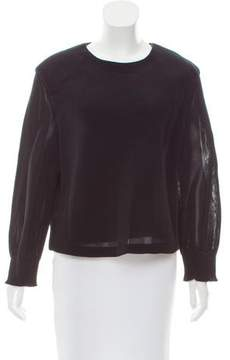 Theyskens' Theory Oversize Mesh Top