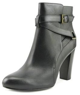 Lauren Ralph Lauren Vianca Round Toe Leather Ankle Boot.