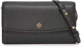 Tory Burch Robinson Pebbled Cross Body Bag - BLACK - STYLE