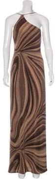 David Meister One-Shoulder Evening Dress