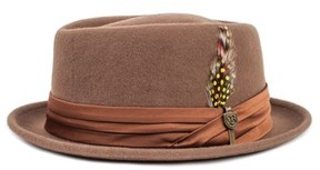 Brixton Men's Stout Porkpie Hat - Brown