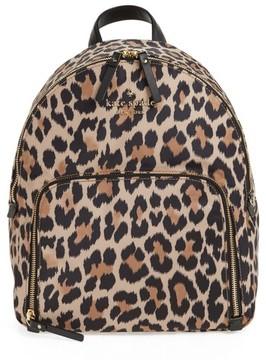 Kate Spade Watson Lane - Hartley Leopard Print Backpack - Brown - BROWN - STYLE