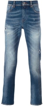 7 For All Mankind distressed slim leg jeans