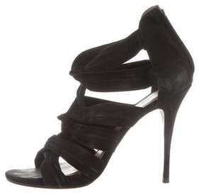 Elizabeth and James Twist-Accented Cage Sandals