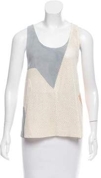 Drome Perforated Suede Top w/ Tags