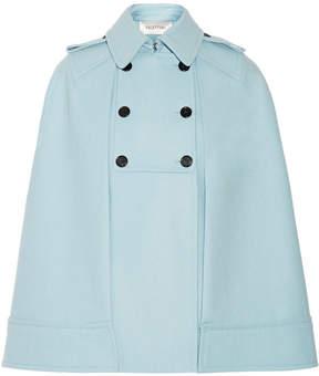 Valentino Wool Cape - Sky blue