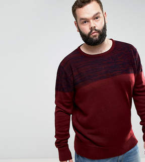 Brave Soul PLUS Sweater with Reverse Panel