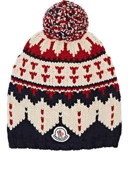 Moncler Men's Fair Isle Knit Wool Hat