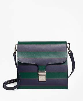 Brooks Brothers Saffiano Leather Cross-body Bag