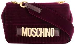 Moschino velvet crossbody bag