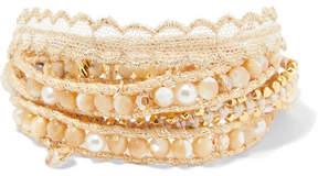 Chan Luu Gold-plated Multi-stone Wrap Bracelet