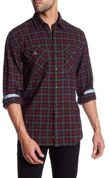James Campbell Primo Plaid Long Sleeve Regular Fit Shirt