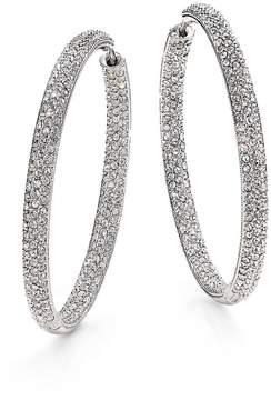 Adriana Orsini Women's Pavé Silverplated Inside-Outside Hoop Earrings/1.75