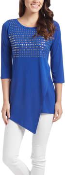 Belldini Royal Blue Three Quarter-Sleeve Tunic - Women